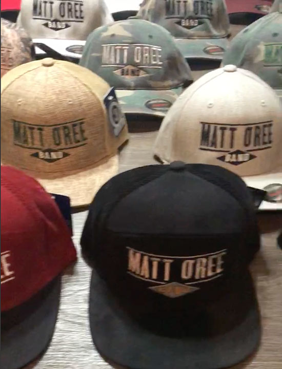 Matt O'Ree Band Logo Caps